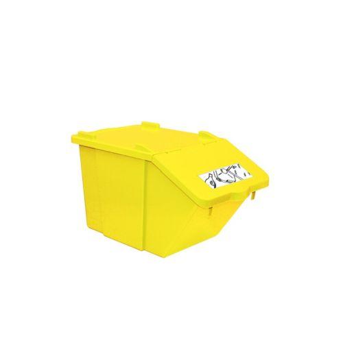 CONTENITORE  IN PLASTICA PICK-UP- GIALLO - PLASTICA - LT 45