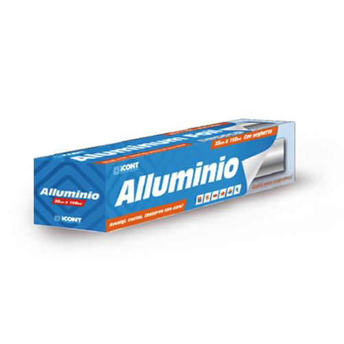 ROTOLO ALLUMINIO COMPLETO DI ASTUCCIO - 150 MT ALTEZZA 33 CM