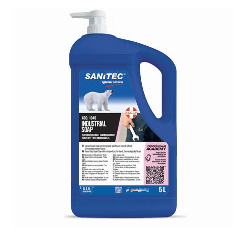 INDUSTRIAL SOAP – GEL LAVAMANI CON MICROGRANULI SPECIFICO PER SPORCHI OSTINATI – TANICA 5 LT.