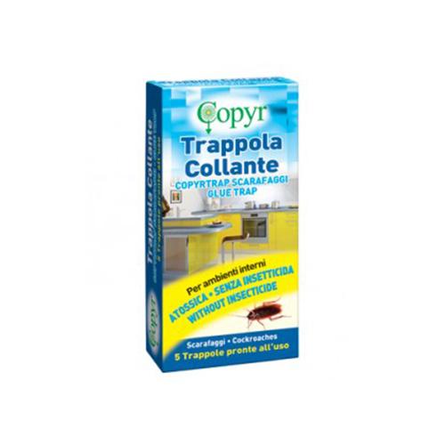COPYRTRAP  SCARAFAGGI - TRAPPOLA COLLANTE SCARAFAGGI ATOSSICA SENZA PESTICIDI  - ASTUCCIO DA 5 PEZZI