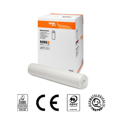 LENZUOLINO MEDICO SAVE CELTEX H. 60 CM.  MT.68 IN CELLULOSA MICROGOFFRATO 2 VELI