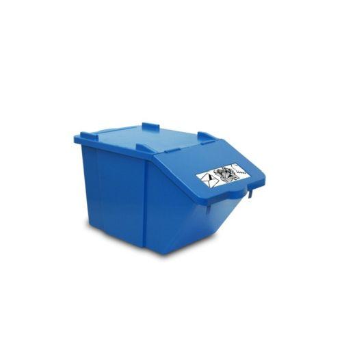 CONTENITORE  IN PLASTICA PICK-UP- BLU- CARTA LT 45